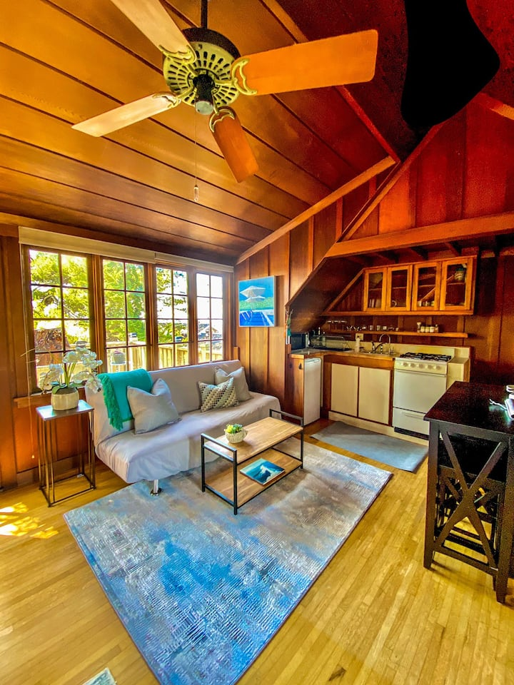 Charming full of character studio by the beach