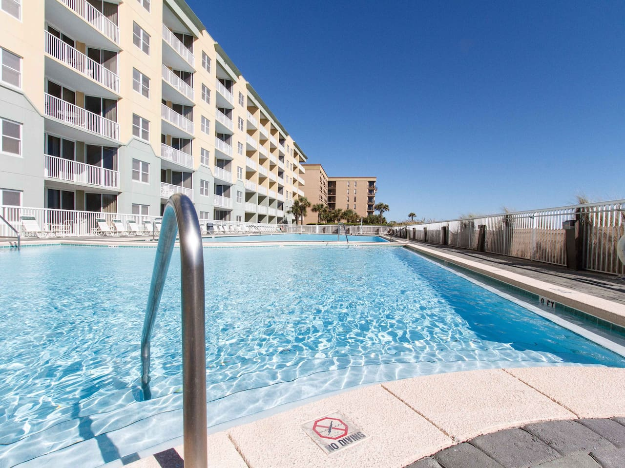 Features one of the largest pools on Okaloosa Island! One section is heated through the winter.