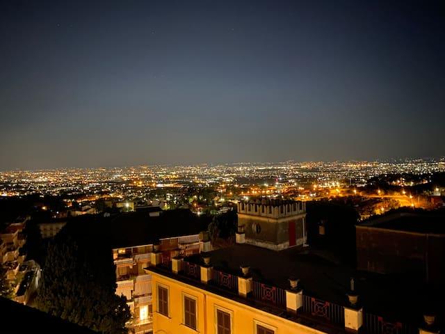 Splendido attico con terrazza panoramica su Roma