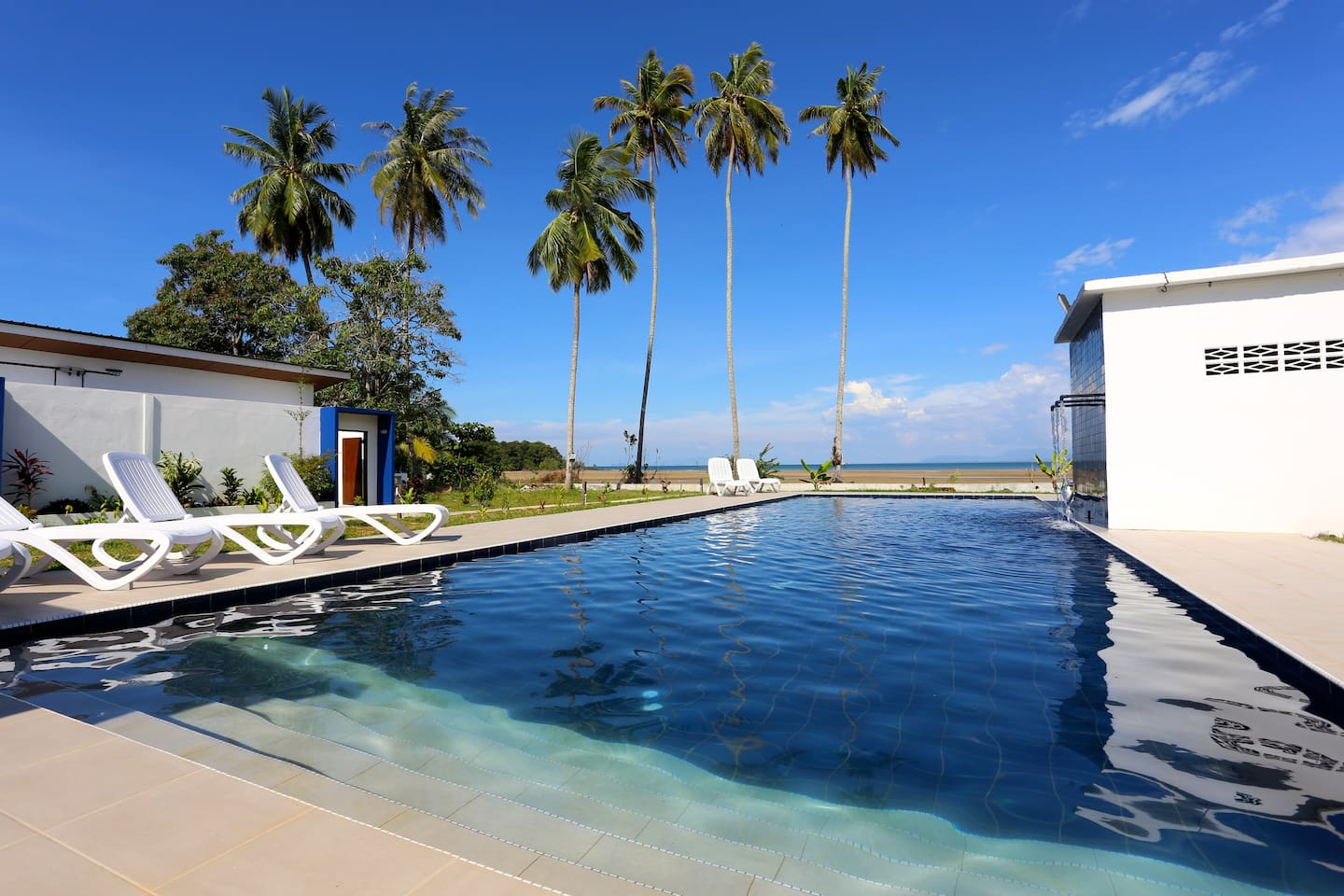 swimming pool overlooking the beach