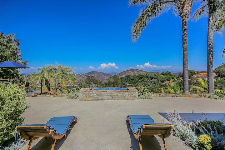 Rancho Santa Fe Private Resort 7 BR - Lake Views - Tennis - Pirate Ship Pool - Guesthouse