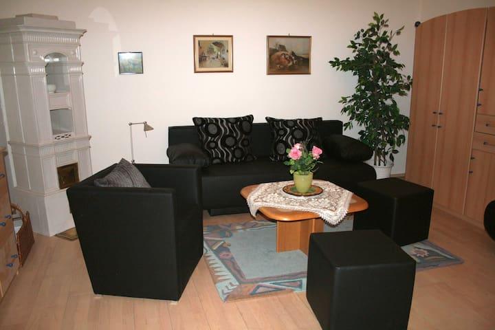 70m² großes Apartment mit direktem Gartenzugang
