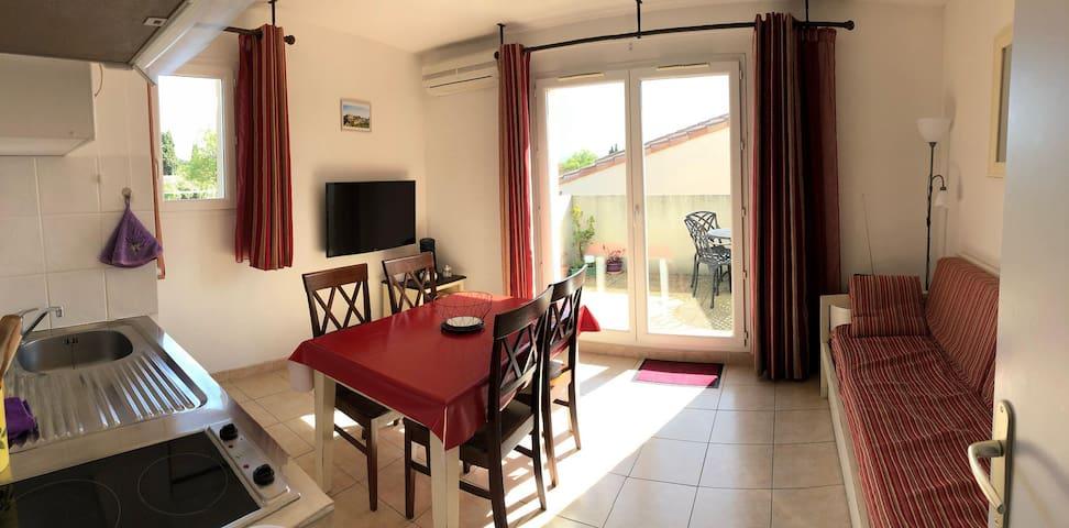 T2 meublé - 32m2 - résidence sécurisée