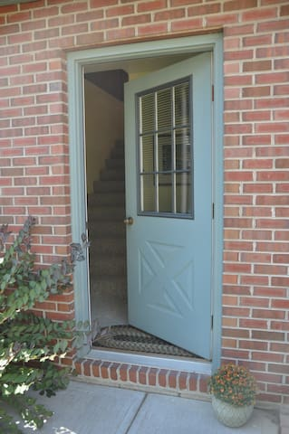 Welcome Home! Upon entering, you'll climb a set of stairs up to your private carriage house studio.