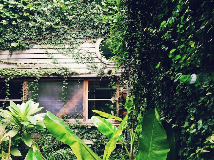 美術館裡的小花園。像山寧靜安穩的悠靜歲月