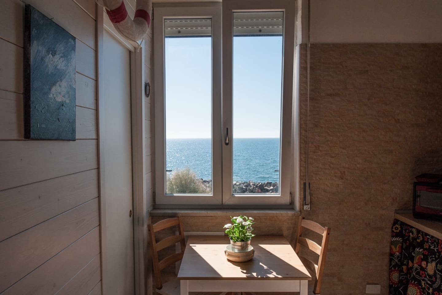*Mare Studio* the seaview from the dining table of the romantic loft studio apartment with seaview by #starhost