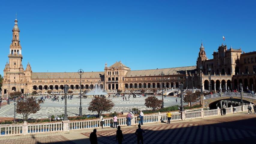 Fris en schone kamer Sevilla