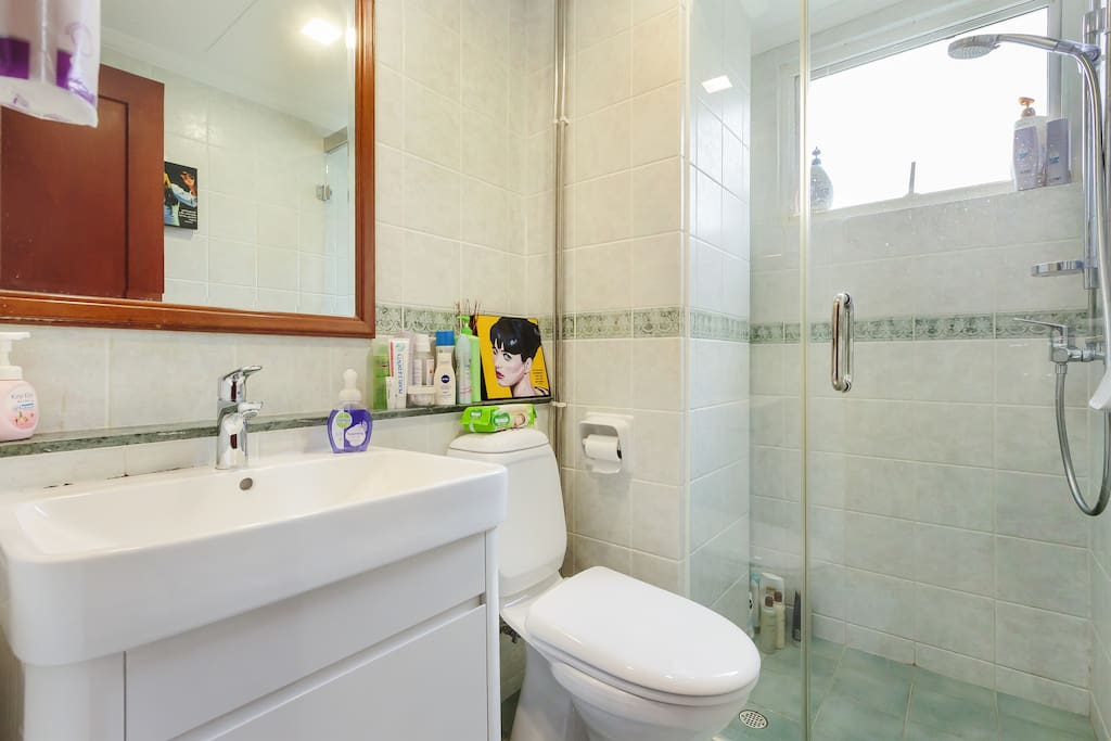 Your own personal bathroom with hot shower.