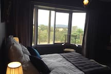 The Guest bedrooms has magnificent views of the mountains