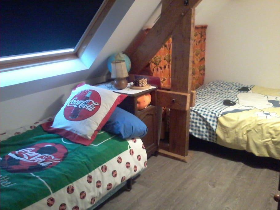 Chambre mansardée très cosy