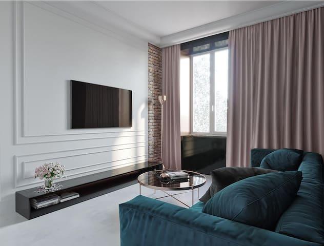 "New Loft apartment ""Gosty"" near Lva Tolstoho"