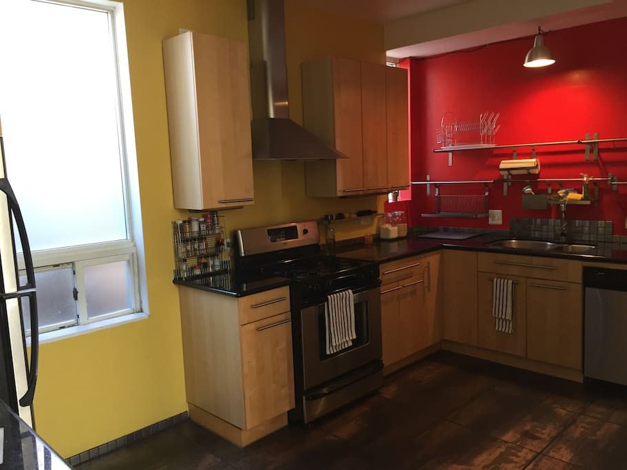 State of the art kitchen with stainless Steele appliances
