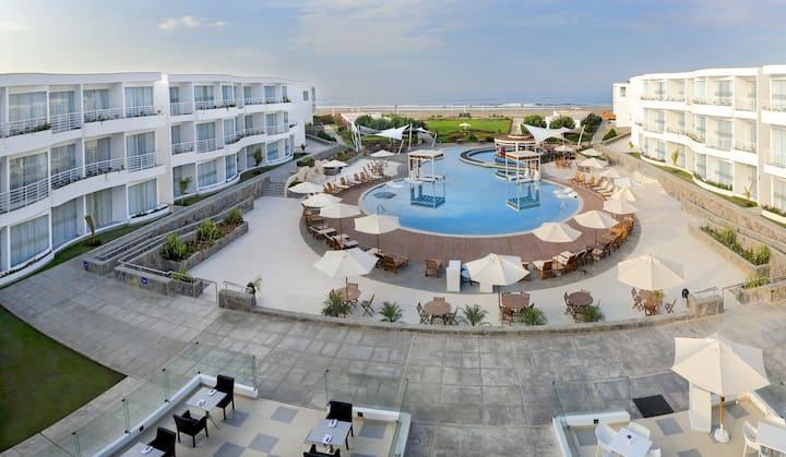 Hotel exclusivo en Asia, Lima, habs vista al mar