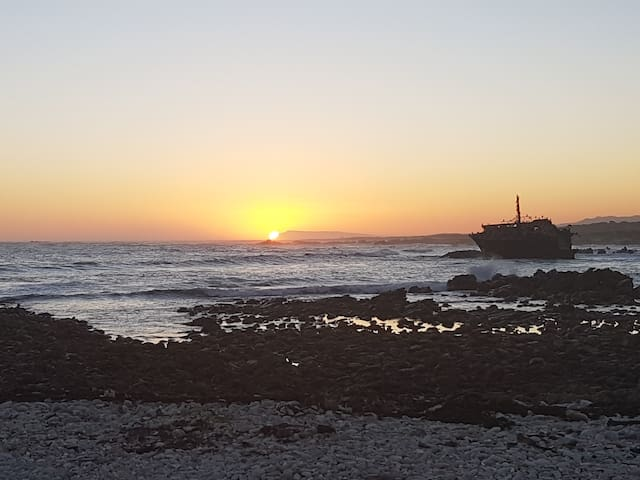 Visit the Meisho maru wreck when staying with us. It is just past the lighthouse in L'Agulhas