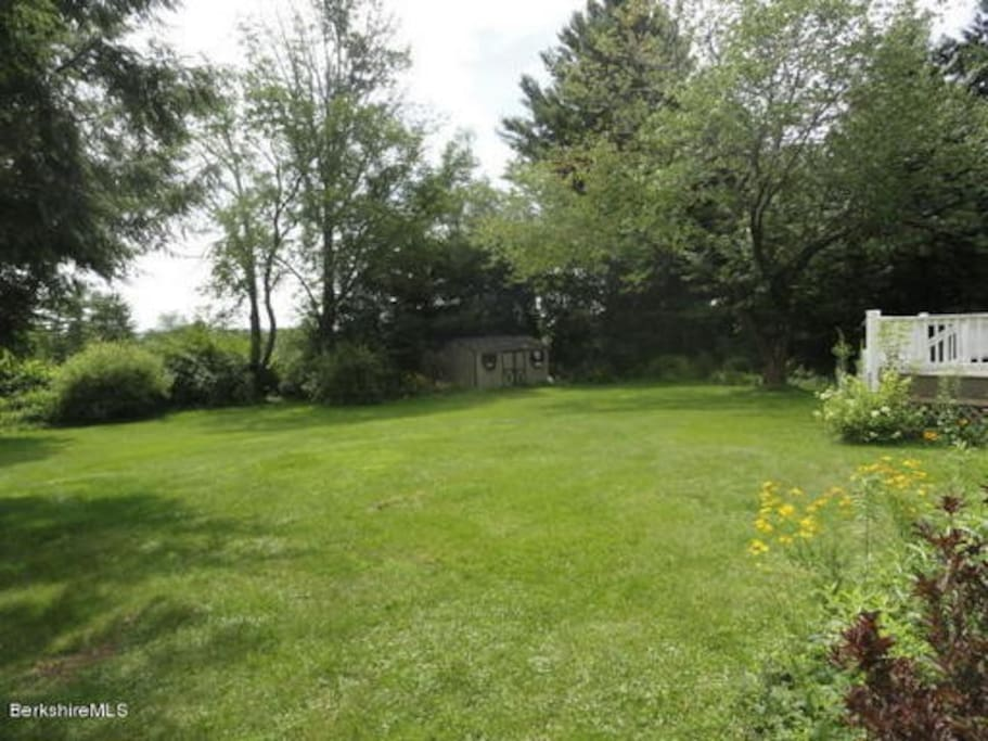 3/4 an acre is a gorgeous view from the back sunroom and deck!