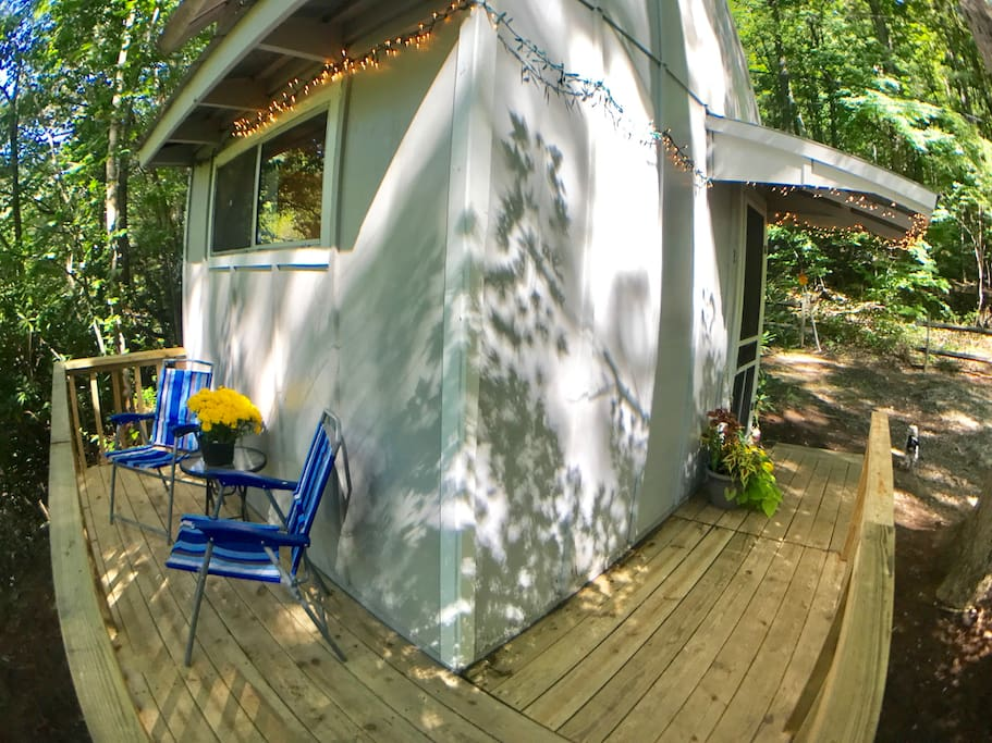 Private deck and entrance.