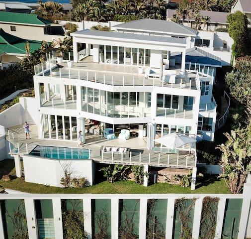 Modern beach house right on the sea