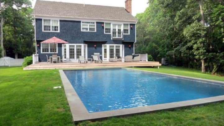 Stunning Central E. Hampton Home w/ gunite pool.
