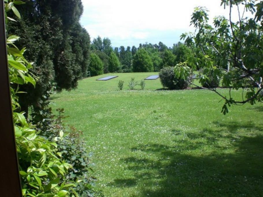 Dal giardino, vista campo da Golf