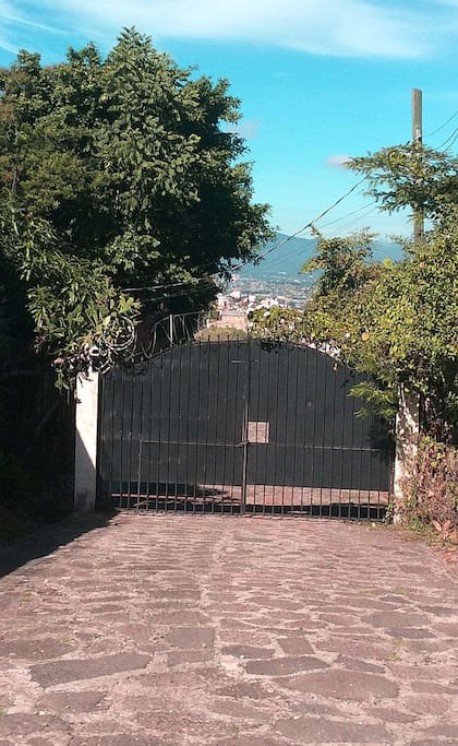 Private access,  fence, videocamera  and electrical security system,  security company service with guards
