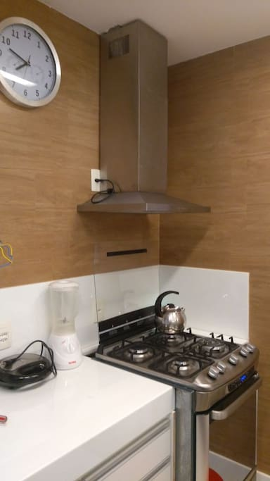 Cozinha com eletrodomésticos novos