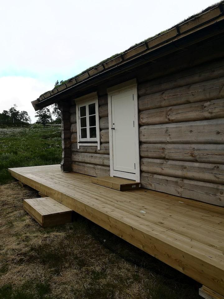 Koselig hytte med fantastisk natur rett utenfor.