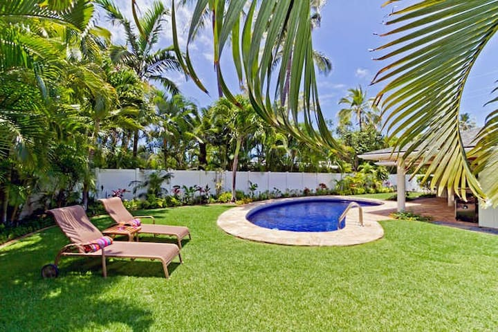 Hale Mahina - Hawaiian style with A/C and Pool!