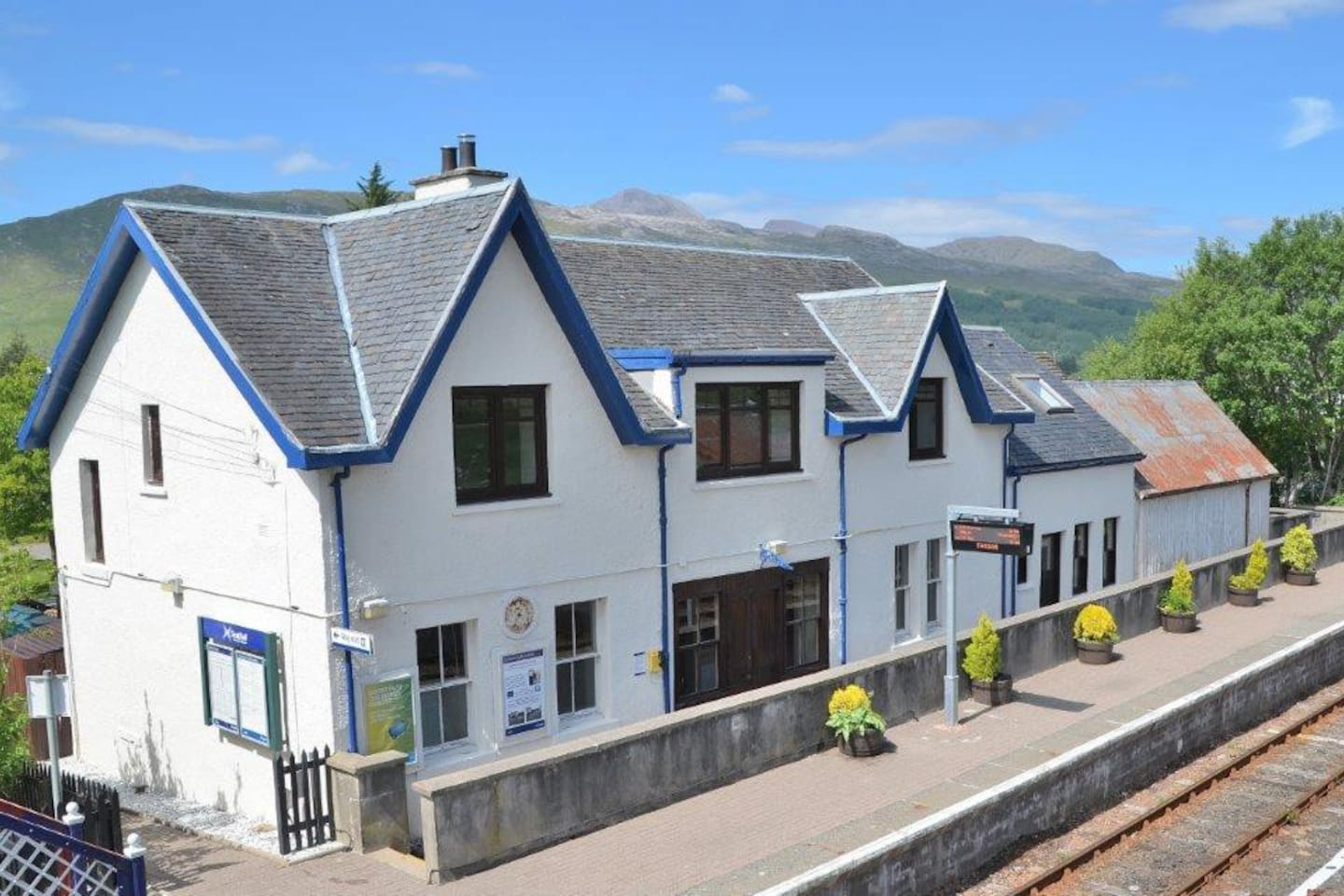 The Station House in stunning scenery - only four trains per day each way!