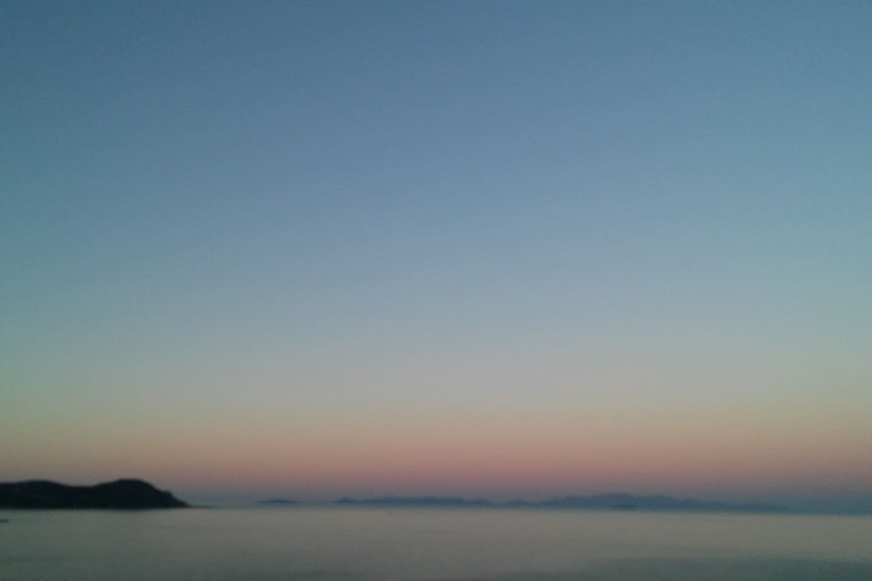 Aegean sea view from veranda.