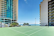The Palms' outdoor tennis court.