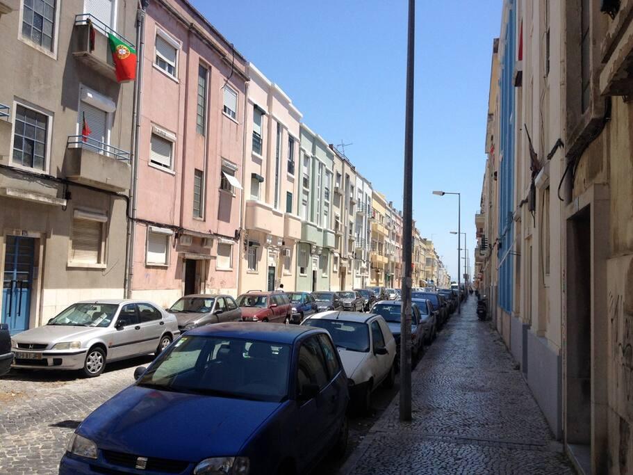 Vista da rua.
