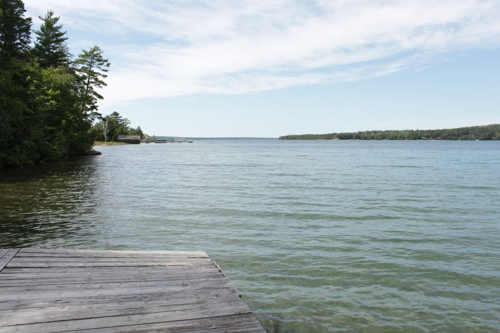 View of Grand Island from the Dock