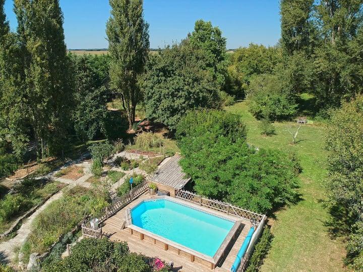 gites123soleil-Tilleul - piscine Charente Maritime
