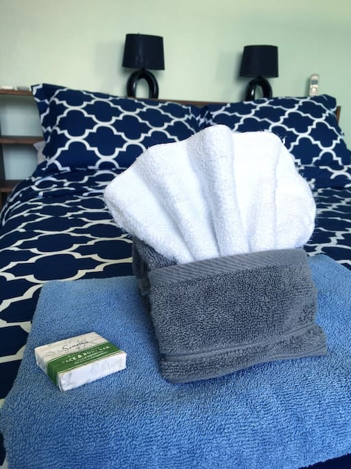 Linens and soap