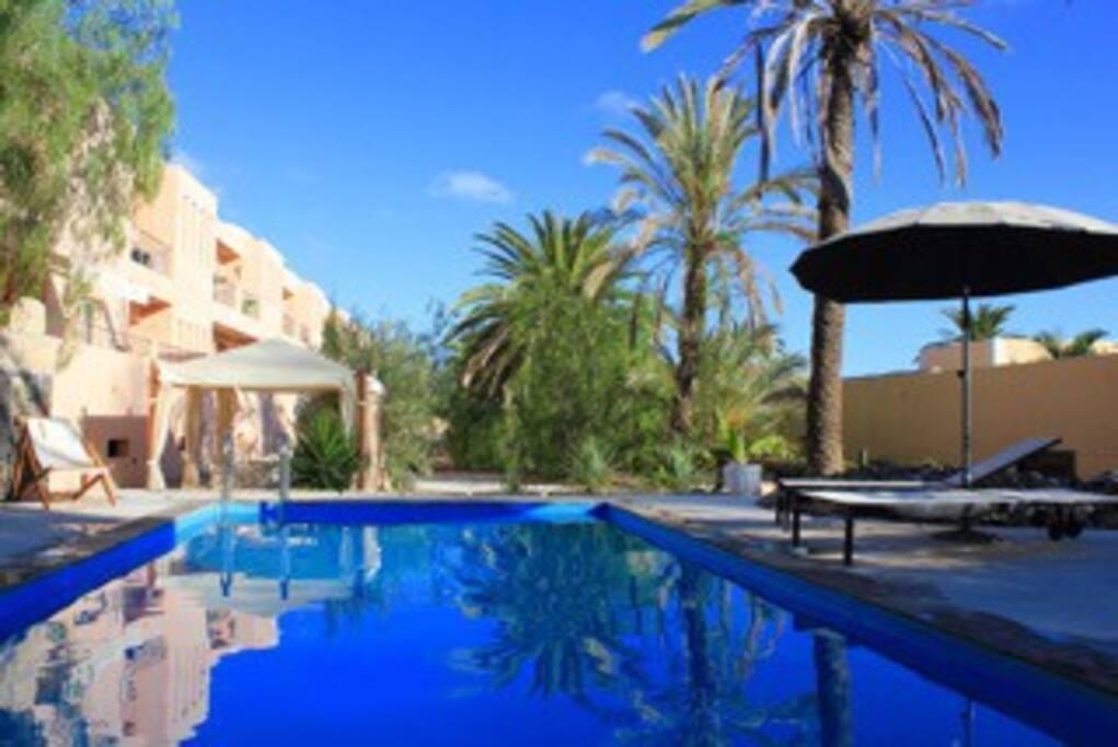Apartamento jard n con piscina y vistas al mar in santa for Piscina santa cruz de tenerife