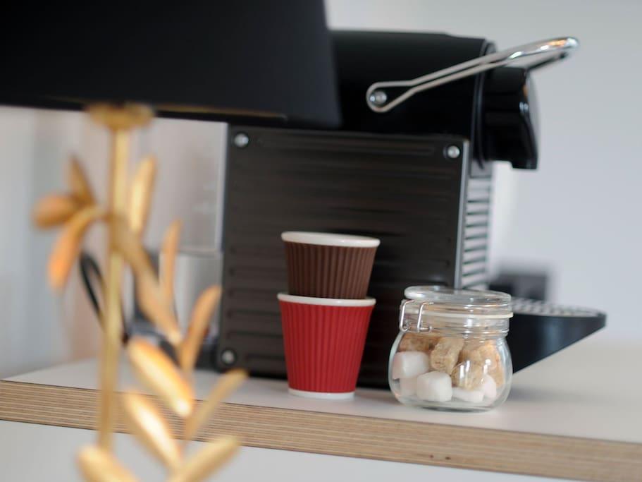 Nespresso machine in every room