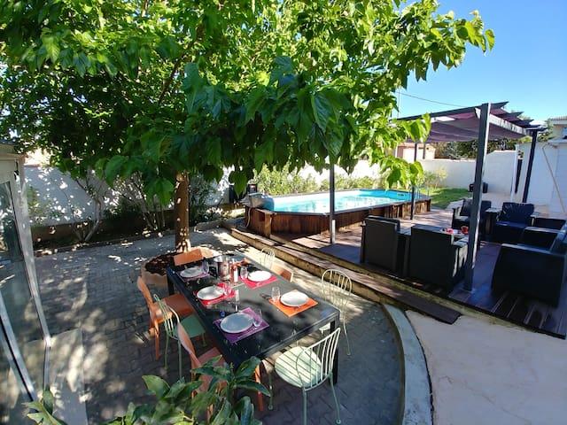 La Ciotat, Villa 2 pers, vue mer et piscine