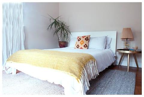 Spacious bed + bath guest suite, private entrance