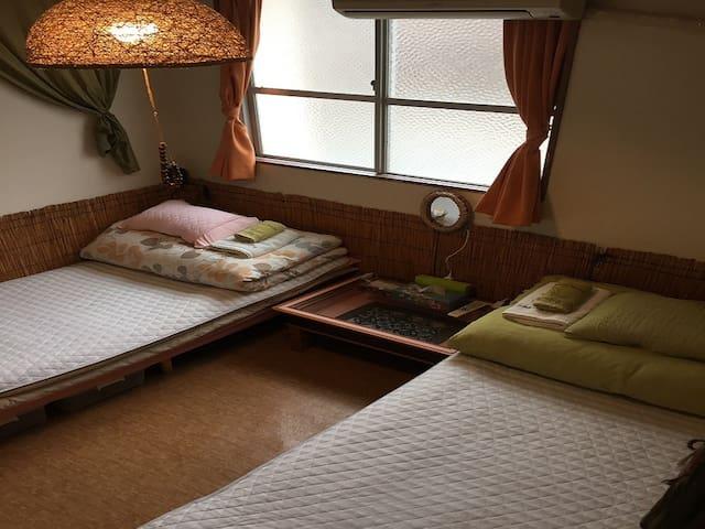 15mins->Miebashi Sta/Twin Room 2ppl/NoSmoke