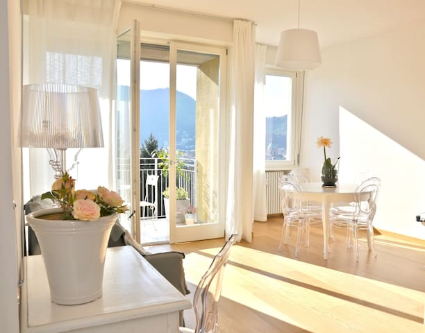 Lovely and super bright apartment with lake view