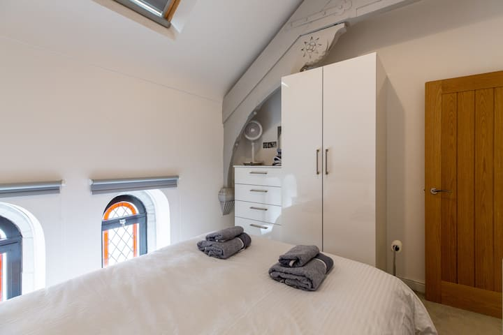 The bedroom also has black-out blinds and a remote controlled skylight with rain sensors.
