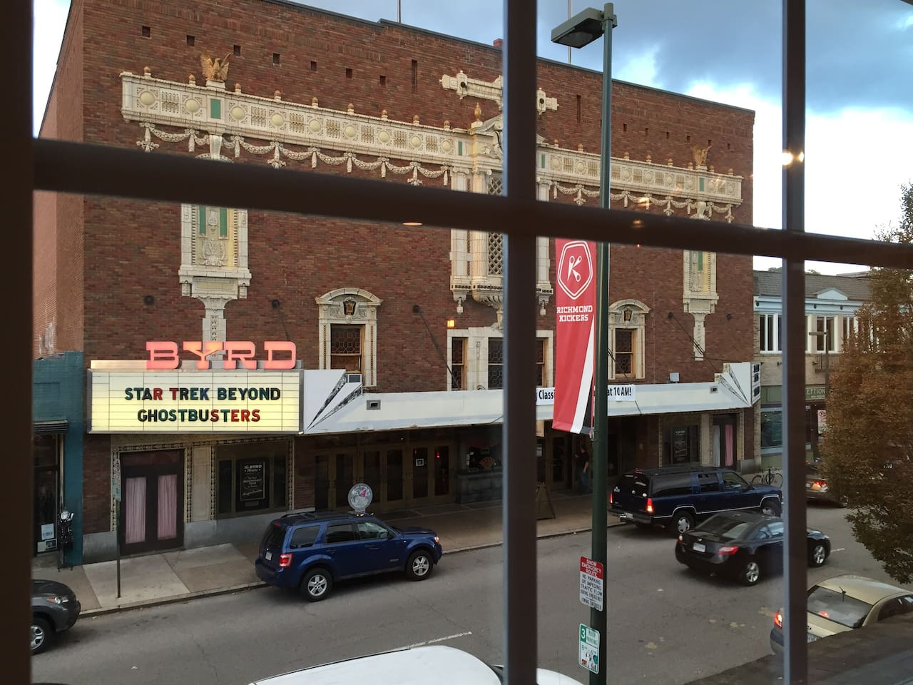 View from Living Room of Byrd Theater