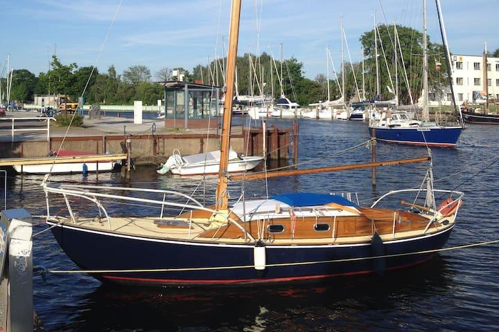 Segelyacht Olwy in Greifswald
