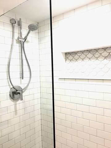 New spa designed upstairs bath