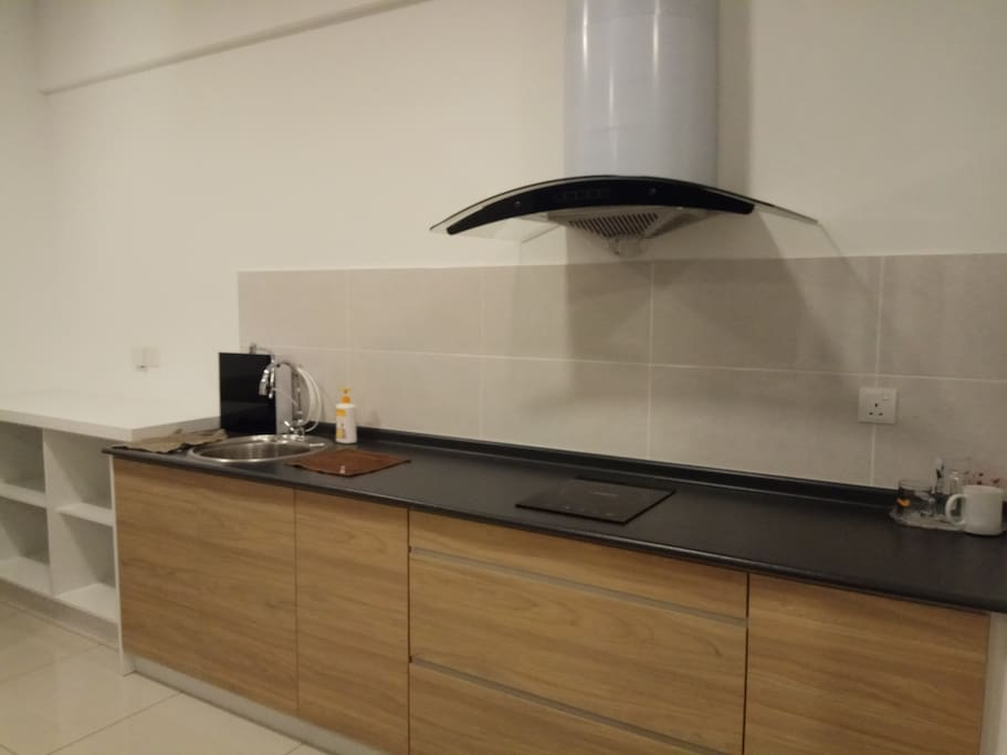 Induction cooker at the kitchen