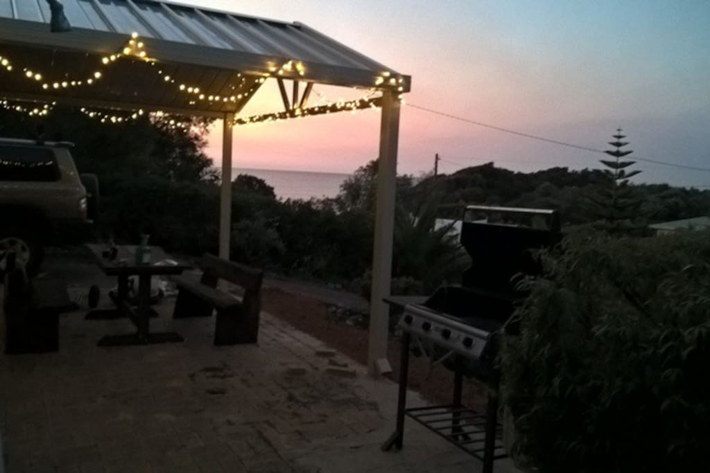 Patio in the evening