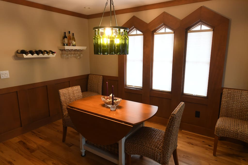 Dining Room with expandable table for formal dining