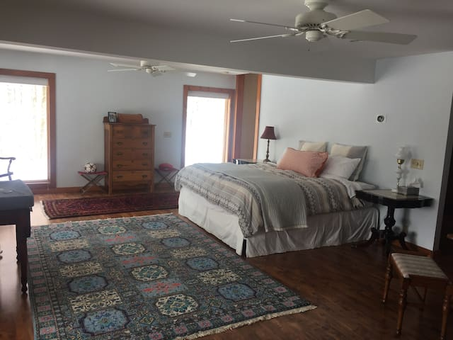 Lower level master suite - king bed