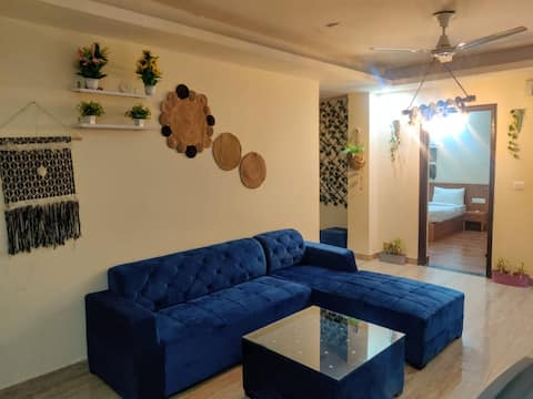 2-bedroom plus party hall bohemian style serviced apartment
