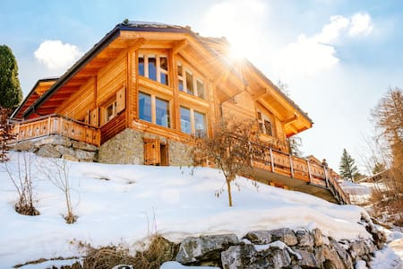 Beautiful luxury chalet in Swiss Alps with hot tub - Nendaz